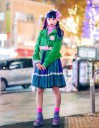 6%DOKIDOKI Harajuku Street Style w/ Kawaii Fashion & Colorful Hair, Nile Perch, Vintage Items & Office Kiko Glitter Shoes