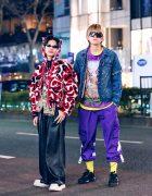 Harajuku Guys StreetStyles w/ Charles Jeffrey Loverboy Hoodie, John Lawrence Sullivan, Remake Denim Jacket, Not Conventional, Eytys & FILA