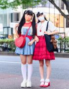 Harajuku Girls Color-Coordinated Street Styles w/ Victorian Cap, Face Masks, Liz Lisa, Merry Jenny, Polka Dots, Baby, The Stars Shine Bright & Yosuke Platforms