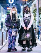 Dark Harajuku Girl Street Styles w/ Chain Harness & Choker, Focus Jacket, Lightning Pants, Remake Skirt, Vivienne Westwood, Korean Tops & Lover Soul Creepers