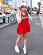 Nadia Harajuku Dress & Jouetie Bucket Hat w/ Fig & Viper Backpack