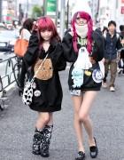 Harajuku Girls in Oversized Sweatshirts, Manga Pins, Nesin, Zzz…Tokyo & Disney