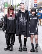 Never Mind the XU Harajuku Street Styles w/ Sub-Age Hoodie, MISBHV & Demonia