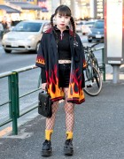 Flames, Creepers & Fishnets in Harajuku w/ More Than Dope & Never Mind the XU