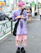 Harajuku Guy w/ Pastel Hair in Nicopanda & Demonia Platform Boots