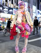 Harajuku Designer w/ Plush Toys Skirt, 6%DOKIDOKI, Swankiss & Kawaii Accessories