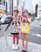 Colorful Harajuku Decora Girls w/ Omocha Party, 6%DOKIDOKI & My Little Pony