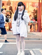 Twintails, Oversized Hoodie, Omochi Alien & Plush Kirby in Harajuku