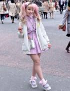 Pink Twin Tails, Barbie Nails, Joyrich, Bubbles & Chanel in Shibuya