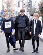 Harajuku Guys in Monochrome Fashion w/ Opening Ceremony, MORPH8NE, Chanel & Dr. Martens