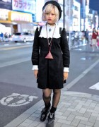 Pameo Pose Dress, Kanken Backpack & Tokyo Bopper Shoes in Harajuku