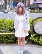 Pastel Hair & Pastel Fashion w/ Cute Backpack in Harajuku