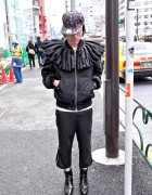 Harajuku Guy's Phenomenon Ruff Collar Cross Jacket & Spikes