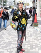 Harajuku Guy in Handmade Pikachu Fashion & Dr. Martens