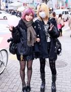 Platform Buckle Boots, Ripped Leggings & Pink Hair in Shibuya