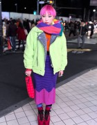 Short Pink Hair, Patricia Field, House of Holland & UNIF in Harajuku