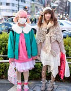 Pink Hair & Tulle Skirt vs. Knit, Lace & Teddy Bear Tights in Harajuku