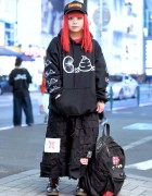 Crust Punk Skirt, Hentaiworks Backpack & Punk Do Hoodie in Harajuku
