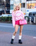 Pink Kawaii Harajuku Style w/
