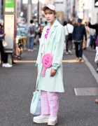 Harajuku Guy in Mint & Pink Fashion w/ Pinky Magic, Dolls Kill, G2?, WC & Jeffrey Campbell