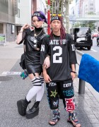 Harajuku Couple w/ Purple Hair & Braids, MYOB, KTZ, UNIF & Romwe