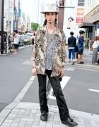 Vintage-loving Harajuku Guy w/ Qosmos Vintage Fashion, Hat & Silver Accessories