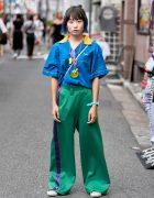 Harajuku Girl in RRR by Sugar Spot Factory, Pin Nap Vintage & Converse