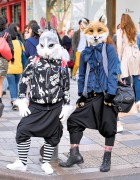 Harajuku Usagi & Kitsune w/ Sarueru Pants & Resale Fashion