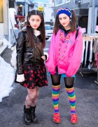 Tiger Backpacks, Twintails, Rainbow Socks & Cherry Earrings in Harajuku