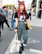 Harajuku Fashion Blogger w/ Double Buns, Bad Acid, SANKAKU & Unif