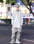 Light Gray Harajuku Street Style w/ Rick Owens, Vintage, Hoka One One & 99%is-