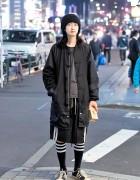 Harajuku Guy in Kidill Jacket, Rick Owens & Juvenile Hall Rollcall x Jun Mikami