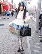 RinRin Doll on Takeshita Dori in Angelic Pretty & Milk Harajuku Fashion