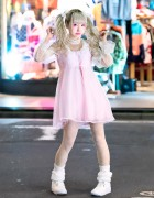Japanese Idol Rinahamu in Harajuku w/ Twintails & Kawaii Pastel Fashion