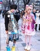 Keith Haring x Reebok w/ Trolls, Nile Perch, KTZ & Barbie in Harajuku