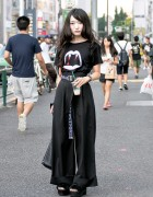 Harajuku Girl in Saint Laurent Vampire Shirt w/ GVGV, Pameo Pose, Emoda & Hermes