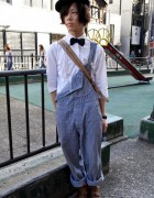Bow Tie & Overalls Guy in Shibuya