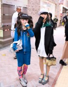 Dip Dye vs Twintails, Silver Clutch & Platforms in Shibuya