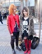 Leopard Print, Skulls, Boots & Striped Socks in Shibuya