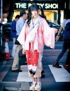 Japanese Idol Shioringo in Hayatochiri Kimono, Jenny Fax & Tokyo Bopper