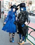 Harajuku Shironuri w/ Blue Hair, Alice And The Pirates & Metamorphose