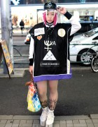 Shoshipoyo w/ WIA Top, MYOB Earrings, YRU & Jeremy Scott in Harajuku