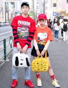 Super Cute Snoopy & Charlie Brown Street Styles in Harajuku