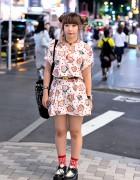 Kawaii Harajuku Street Style w/ Spank, Creepers & Odango Hair