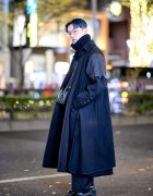Deconstructed Maxi Coat, Acne Studios Turtleneck & Goyard Bag in Harajuku