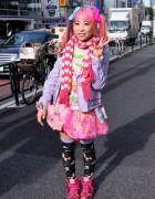 Suiya from DecoLa Hopping w/ Milklim & 6%DOKIDOKI in Harajuku