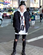 Harajuku Streetwear w/ Supreme x Tom & Jerry, REASON, Ripped Skinny Jeans & Nike Air Pippens