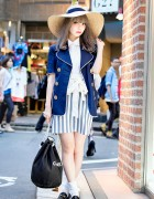 Swankiss Saaya in Harajuku w/ Wide Brim Hat, Kinji Blazer & Chanel Bag