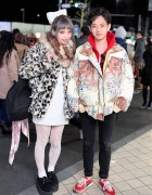 Swankiss Producer in Animal Print & Creepers vs Tiger Jacket & Retro Sneakers