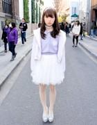 Pastel Harajuku Style w/ Swankiss Skirt, BonBon Hoodie & Wedges